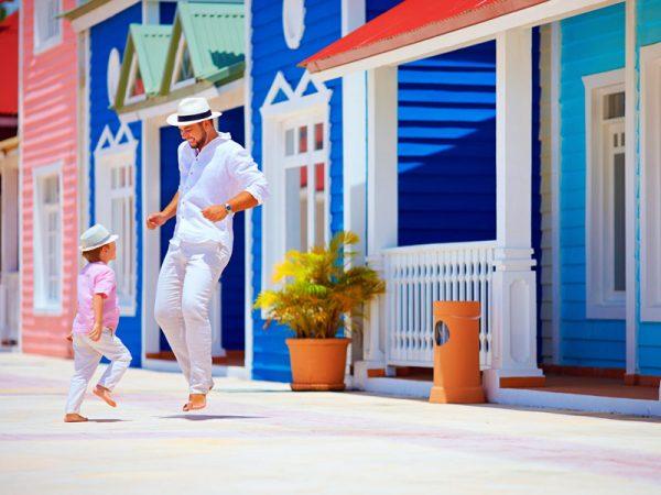 Casas tradicionales en Caribe. Cruceros Princess
