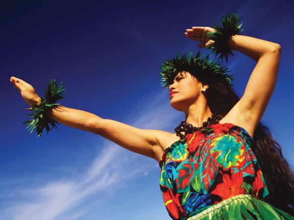 Baile típico hawaiano